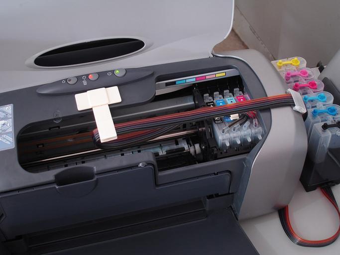 tiskárna uvnitř